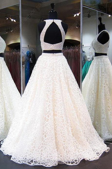 S246 Newest Ball Gown Scoop Neck Tulle with Pearl Prom Dress,Sexy Lady Prom Dress,Evening Dress,Real Photo Dress,Wedding Dress