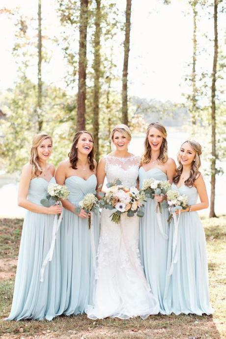 A143 Pale blue bridesmaid dresses,Mint Bridesmaid Dress,Prom Dress,Bridesmaid Dress